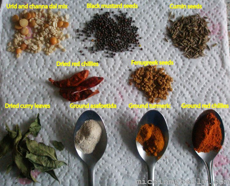 Tempering (Spices) TemperingSeasoning deconstructed Part IMice in my belly