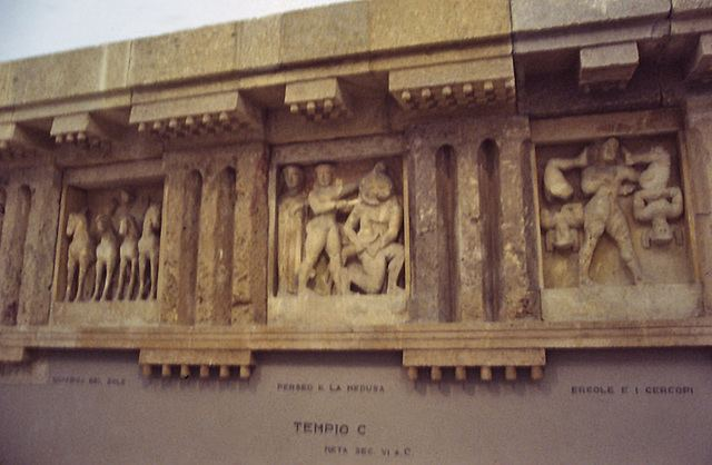 Temple C (Selinus) ipernity Metopes of Temple C at Selinus in the Palermo Archaeology