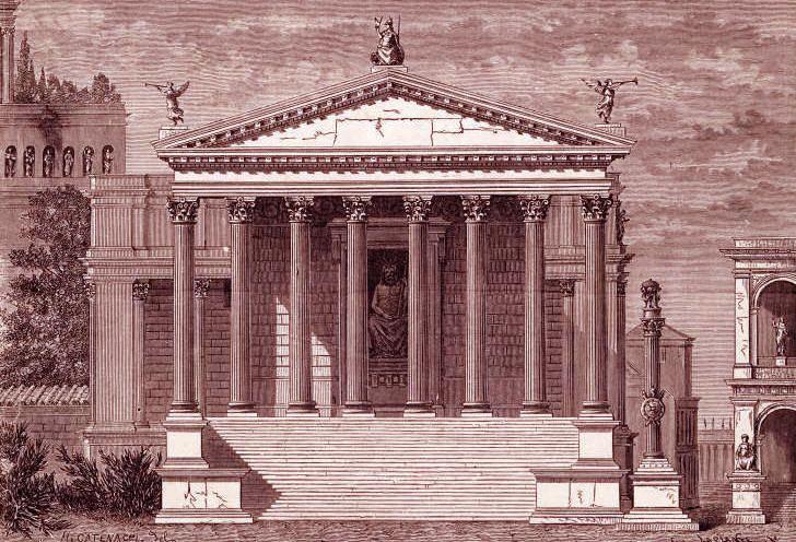 Temple of Jupiter Stator (8th century BC) ANTINOUS THE GAY GOD ROMULUS SHRINE TO JUPITER LOCATED AT BASE OF