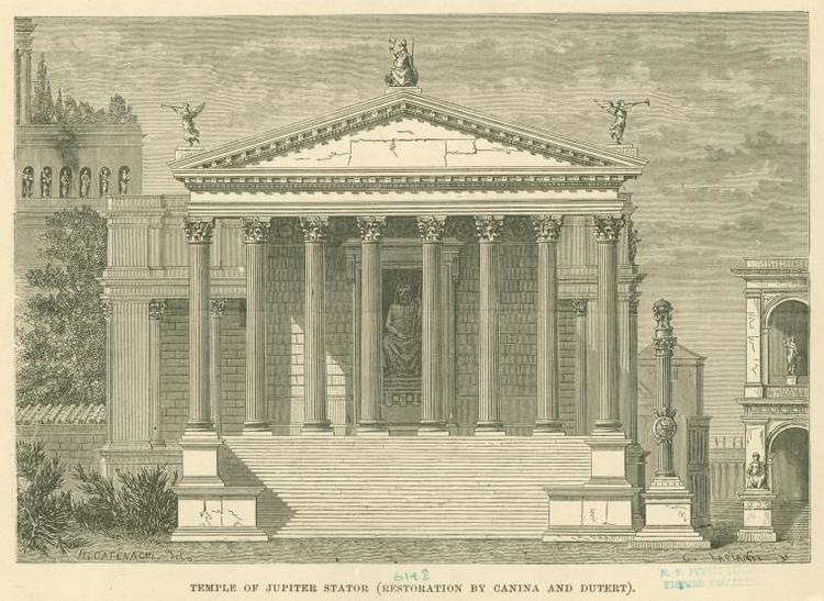 Temple of Jupiter Stator (8th century BC) Temple of Jupiter Stator 2nd century BC Wikipedia