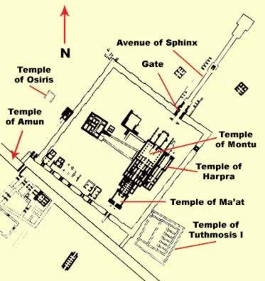 Temple of Montu (Medamud) The Temple of Montu at Karnak in Egypt