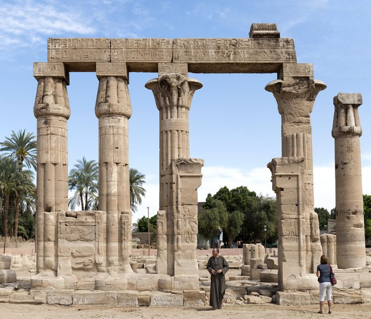 Temple of Montu (Medamud) The temple of Montu at Medamud With Sunny and Hassan Abdel Flickr