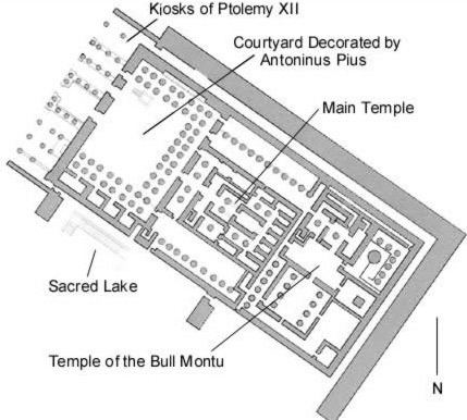 Temple of Montu (Medamud) Egypt The Temple of Montu Rattawy and Harpocrates at Medamud