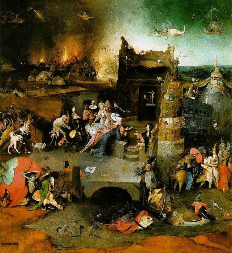 Temptation of Saint Anthony in visual arts WebMuseum Bosch Hieronymus The Temptation of St Anthony