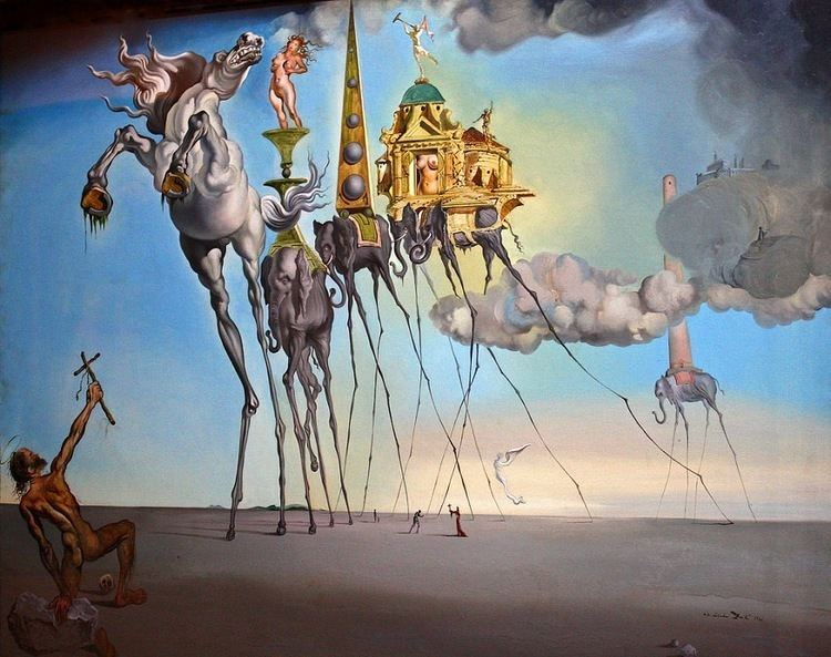 Temptation of Saint Anthony in visual arts The Temptation of Saint Anthony 1946 by Salvador Dali