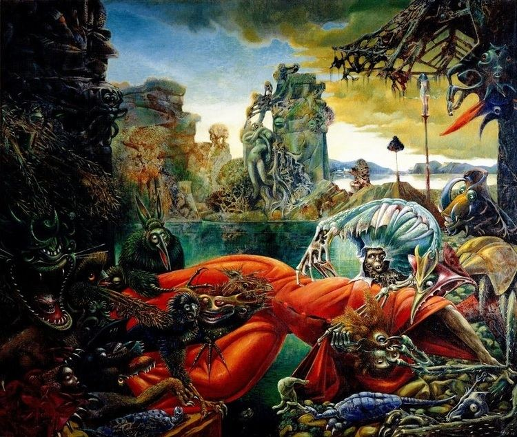 Temptation of Saint Anthony in visual arts The Temptation of Saint Anthony 1945 by Max Ernst