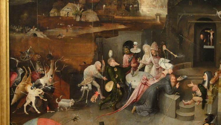 Temptation of Saint Anthony in visual arts Bosch Temptation of Saint Anthony Center Panel Notes on The