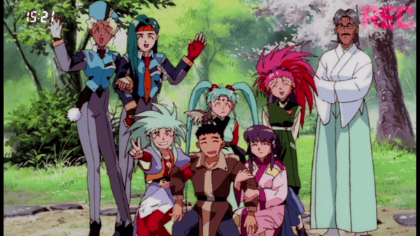 Tenchi Forever! The Movie movie scenes FUNimation has chosen to package these movies in a bit of a strange way with Tenchi in Love and Daughter of Darkness on the same disc while Tenchi in Love