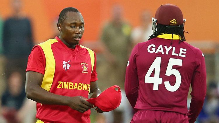 Zimbabwes Tendai Chatara reprimanded for Chris Gayle deliveries