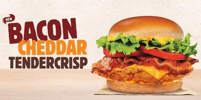 TenderCrisp FAST FOOD NEWS Burger King Bacon Cheddar Tendercrisp Sandwich The