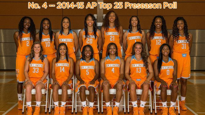 Tennessee Lady Volunteers basketball Lady Vols Fourth In AP Poll University of Tennessee Official
