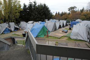 Tent City 4 Tent city dispute sends homeless packing Local News The Seattle