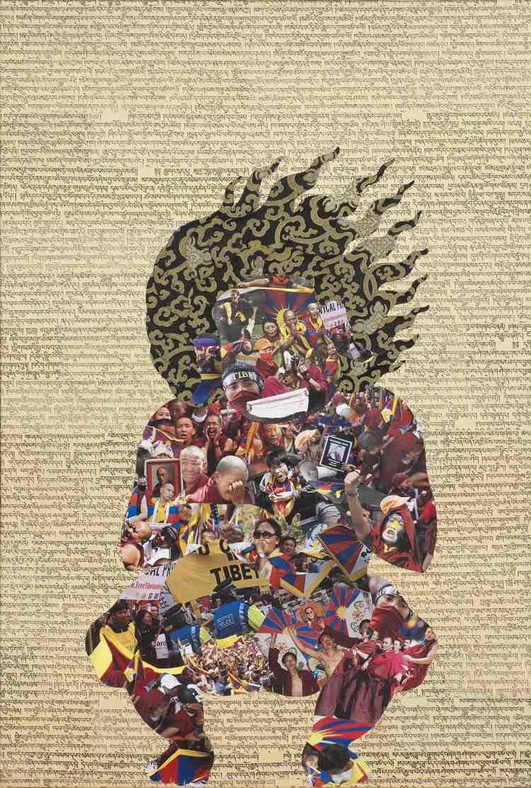 Tenzing Rigdol Tenzing Rigdol Premise 1 2012 Collage 75 X 50 cm 29 x 19