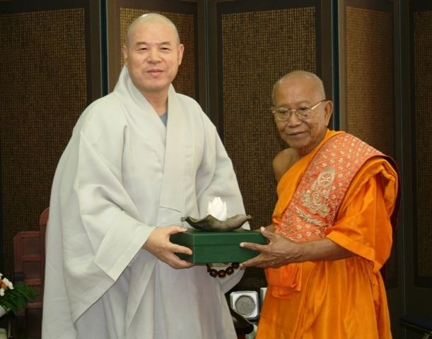Tep Vong Supreme Patriarch of Cambodian Buddhism Most Ven Tep Vong visits