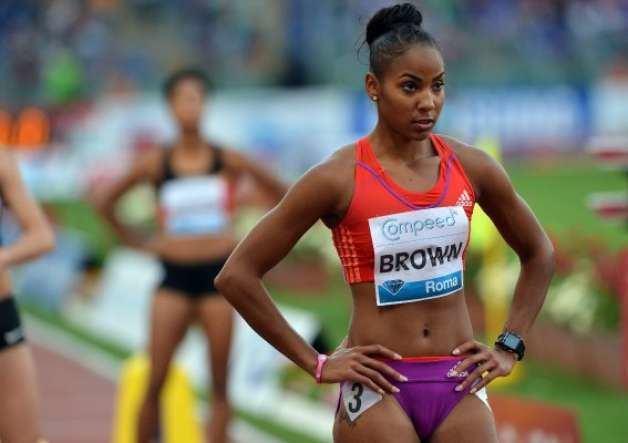 T'erea Brown Female Celebrity Navels Olympic Navel T39erea Brown