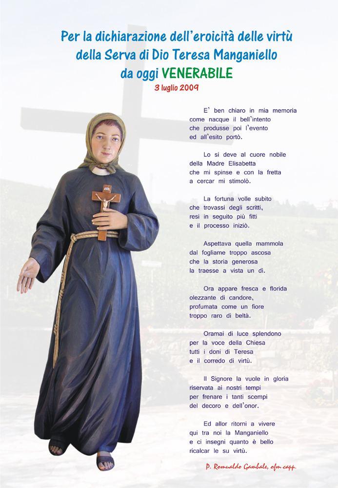 Teresa Manganiello Suore Francescane Immacolatine Causa Teresa Manganiello