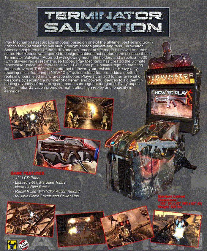 Terminator Salvation (arcade game) Terminator Salvation Arcade Game Factory Direct Prices