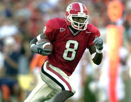 Terrence Edwards Terrence Edwards led UGA in receptions for four straight years and