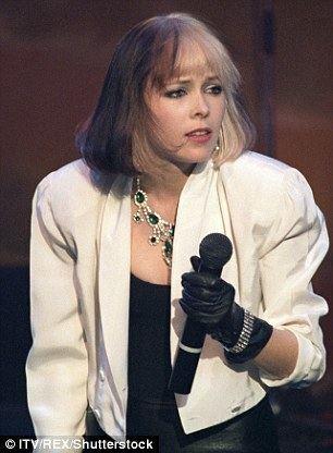Terri Nunn Berlins Terri Nunn shows of cleavage during LA gig Daily Mail Online