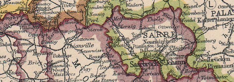 Territory of the Saar Basin NORTHERN FRANCE Saar Basin Territory under League of Nations mandate