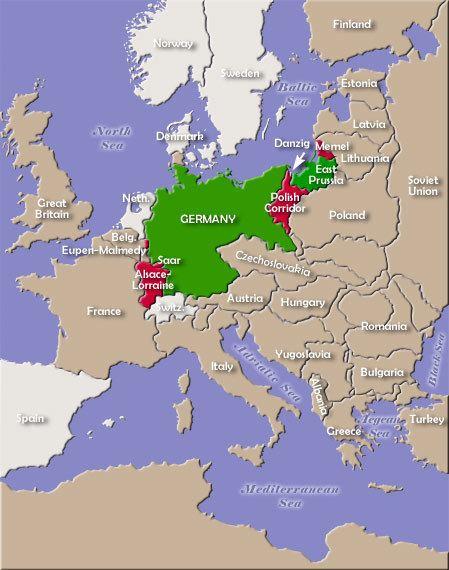 Territory of the Saar Basin Map of German Territorial Losses