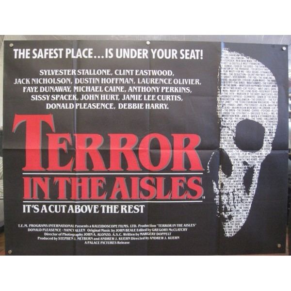 Terror in the Aisles 1984 Original British Quad