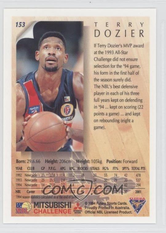 Terry Dozier 1994 Futera NBL Base 153 Terry Dozier COMC Card Marketplace