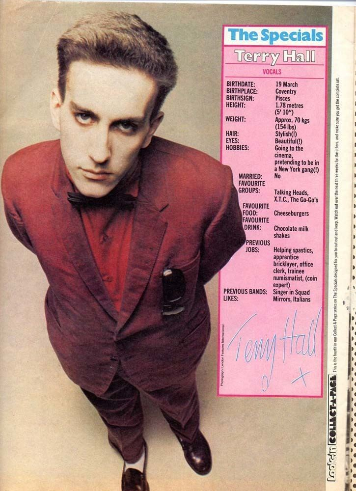 Terry Hall (singer) Terry Hall a fan website about the singer of The Specials