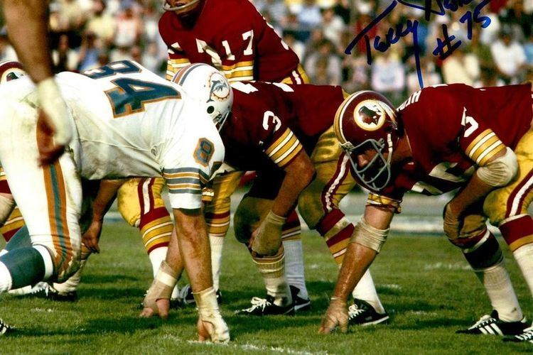 Terry Hermeling Redskins by the Jersey Numbers 75 Terry Hermeling Hogs Haven