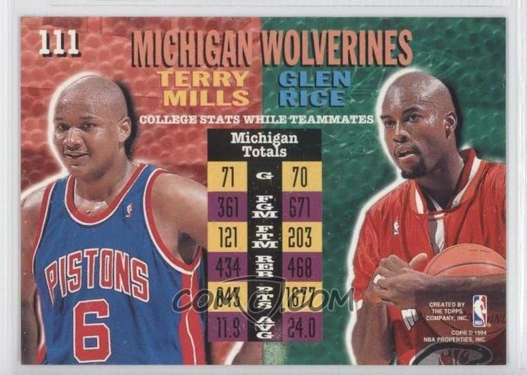 Terry Mills (basketball) 199495 Topps Stadium Club Base Prizes The 1995 NBA Finals