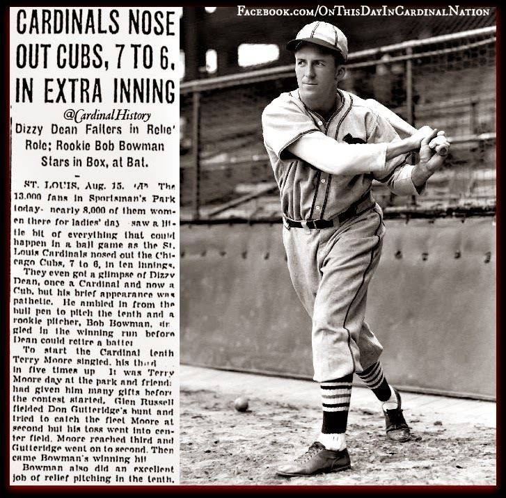 Terry Moore (baseball) On This Day In Cardinal Nation August 15 1939 Terry Moore Day at