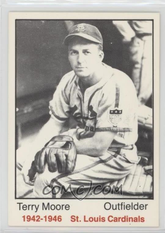 Terry Moore (baseball) 1983 TCMA 194246 St Louis Cardinals Base 18 Terry Moore
