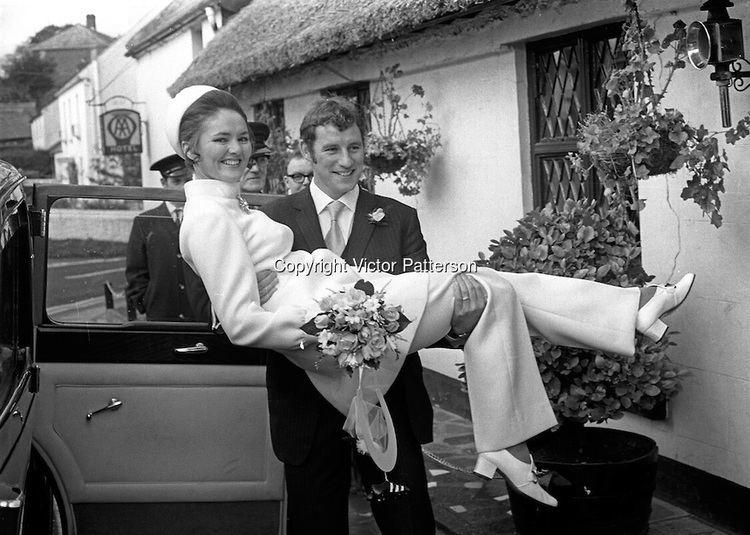 Terry Neill N Ireland Arsenal footballer Terry Neill with his bride Sandra