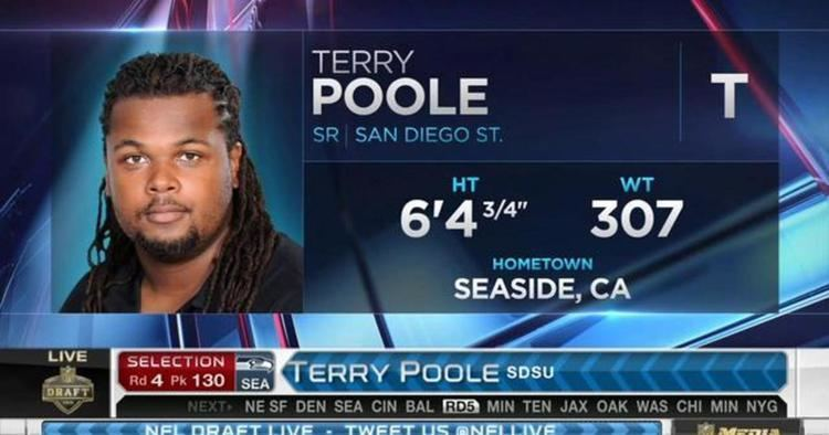 Terry Poole (American football) Seattle Seahawks pick offensive tackle Terry Poole No 130 in 2015