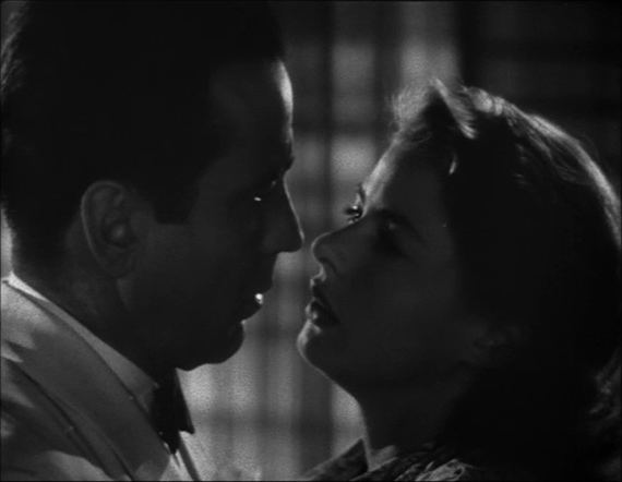 The Colour of Magic (TV film) movie scenes Black and white film screenshot of a man and woman as seen from the