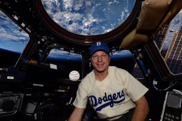 Terry W. Virts Jackie Robinson remembered in outer space by astronaut