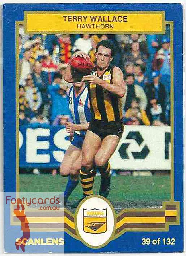Terry Wallace 19911963 1986 VFL Scanlens 1986 VFLAFL Scanlens 039 Terry