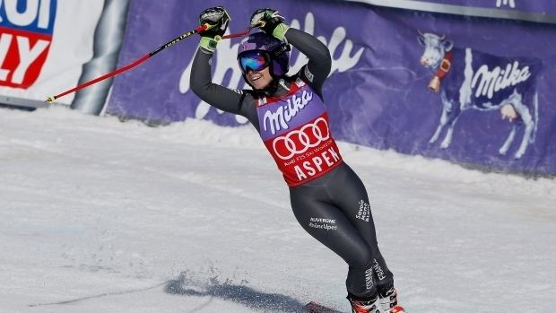 Tessa Worley Tessa Worley holds on for Crystal Globe at alpine World Cup finals