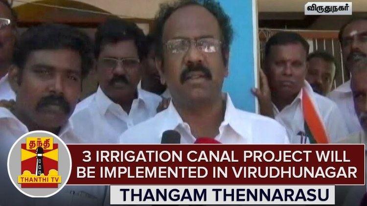 Thangam Thennarasu DMKs Thangam Thennarasu Ensure 3 Irrigation Canal Project Will Be