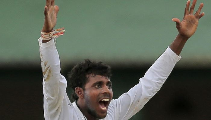 Tharindu Kaushal Tharindu Kaushal barred from bowling 39Doosra39 Zee News