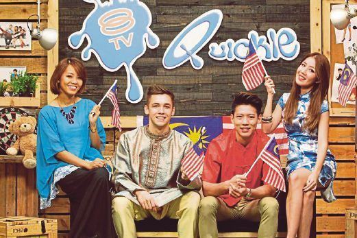 The 8TV Quickie SHOWBIZ Quickie hosts compose Malaysia Day songs New Straits