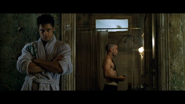 The Actor and the Rube movie scenes Building Rube montage scene Similair blocking For Fight Club effect