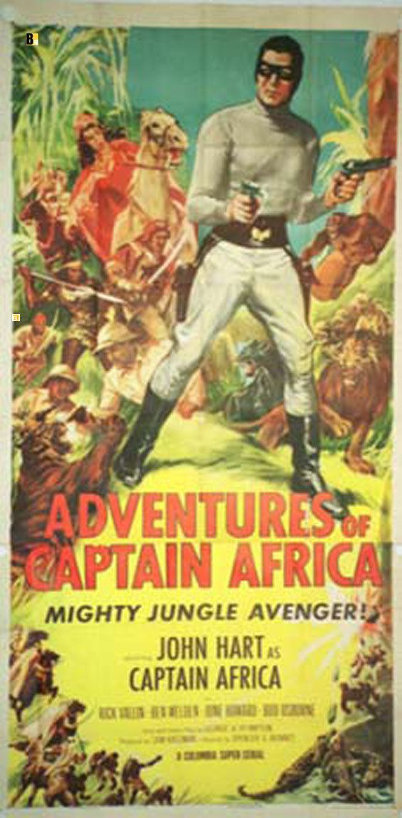 The Adventures of Captain Africa ADVENTUES OF CAPTAIN AFRICA MOVIE POSTER ADVENTURES OF CAPTAIN