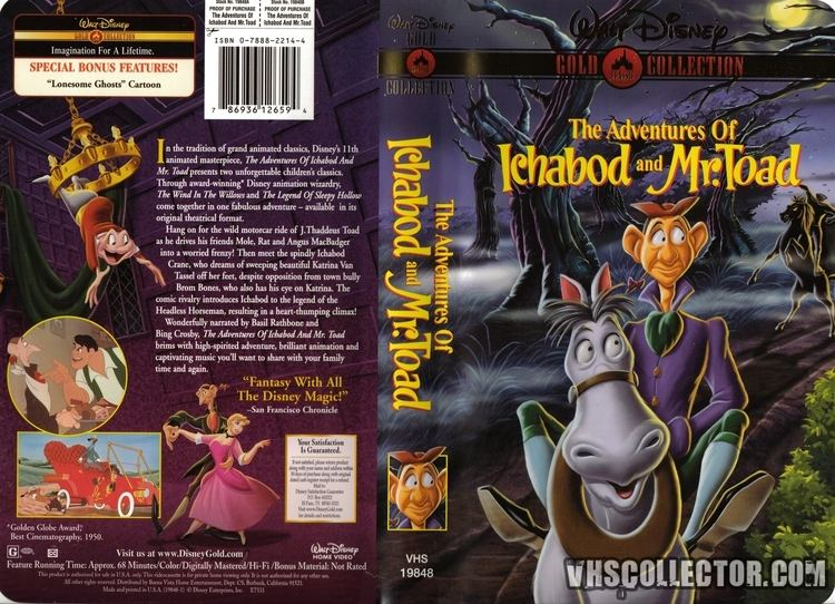 The Adventures of Ichabod and Mr. Toad The Adventures of Ichabod and Mr Toad VHSCollectorcom Your