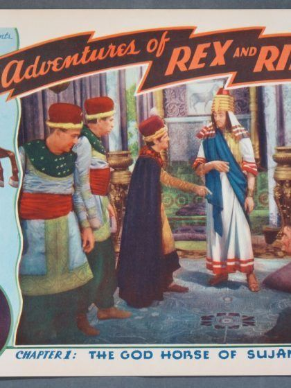 The Adventures of Rex and Rinty ADVENTURES OF REX AND RINTY CHAPTER 1 1935 Title Card Lobby Cards