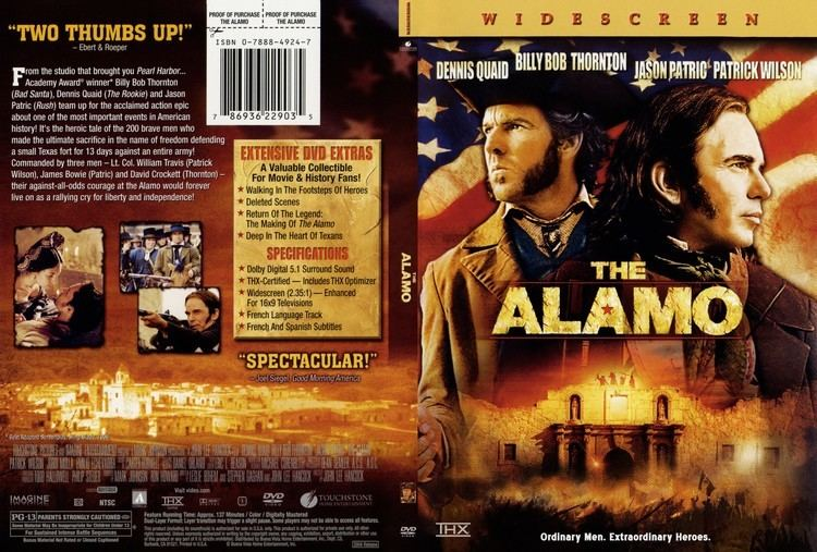 The Alamo (2004 film) The Alamo 2004 WS R1 Movie DVD CD label DVD Cover Front Cover