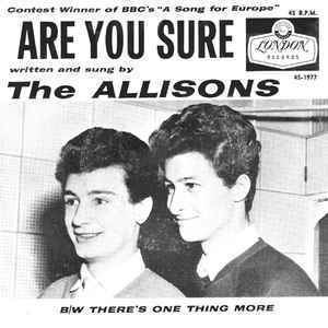 The Allisons The Allisons Are You Sure at Discogs