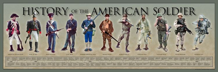 The American Soldier History of the American Soldier Poster History America