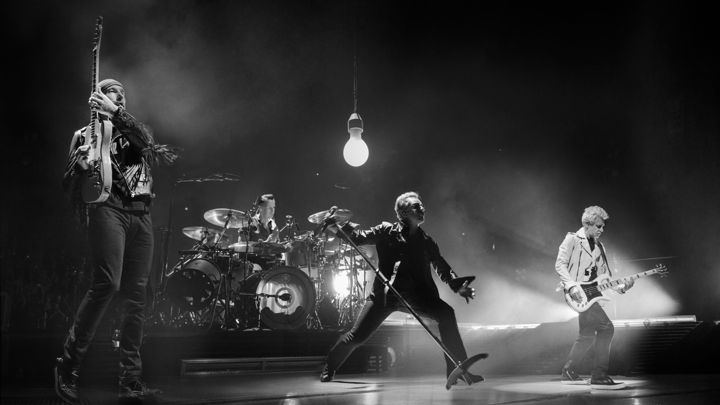 The Band Concert movie scenes U2 will be the subject of two HBO specials later this year a live show from Paris and behind the scenes doc on their Innocence Experience tour Sam Jones