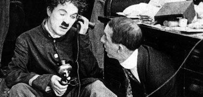 The Bank (1915 film) BFI Features Charlie Chaplin Chaplin resources